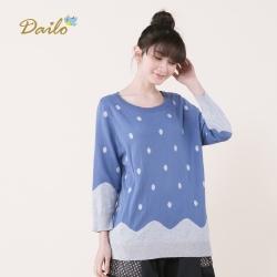 【Dailo】繽紛點點針織衫(二色)