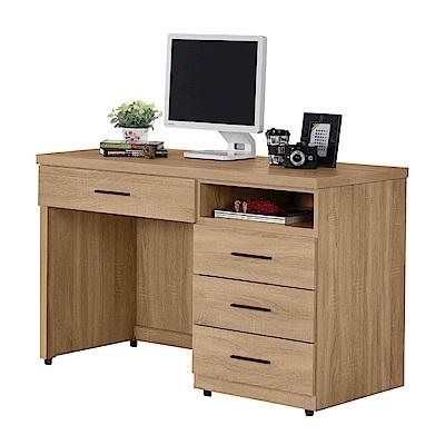 文創集 波納斯時尚4尺木紋書桌/電腦桌-120x60x79cm免組