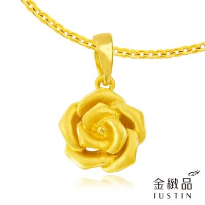 金緻品 黃金墜子 優雅玫瑰 0.59錢