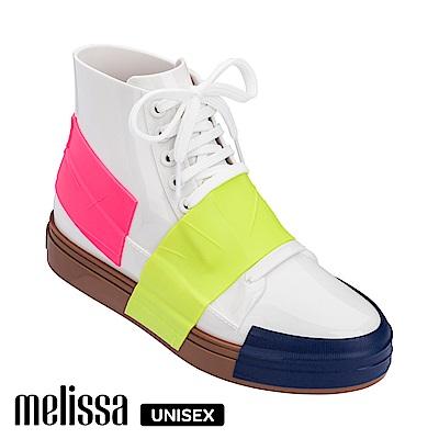 Melissa 潮流Sneaker 高筒休閒鞋-撞色白