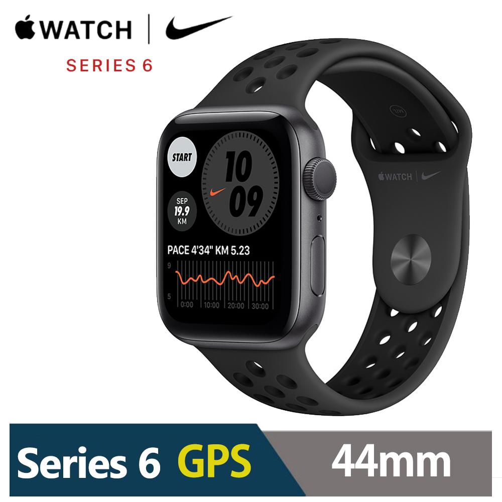 Apple Watch Nike+S6 44mm 鋁金屬錶殼配Nike運動錶帶(GPS)