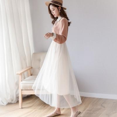 IMStyle  星空亮片網紗半身裙兩件式【正品】