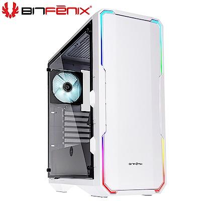Bitfenix 火鳥 Enso TG(W) 炫光戰神 白 E-ATX 玻璃透側 電腦機殼