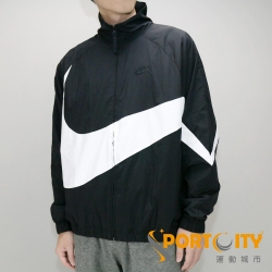 NIKE AS NSW HBR JKT WVN STMT 男 休閒外套 黑