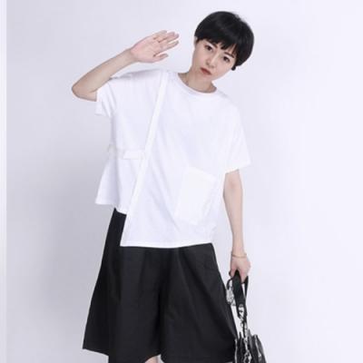 設計所在Style-不規則短袖T恤小眾設計款寬鬆顯瘦半袖上衣