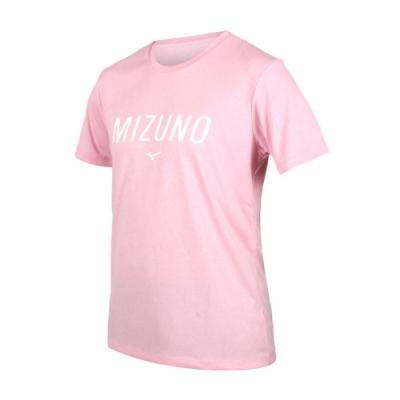 MIZUNO 男 短袖T恤 粉紅白