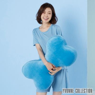 Yvonne Collection 素面大骨頭抱枕-水藍