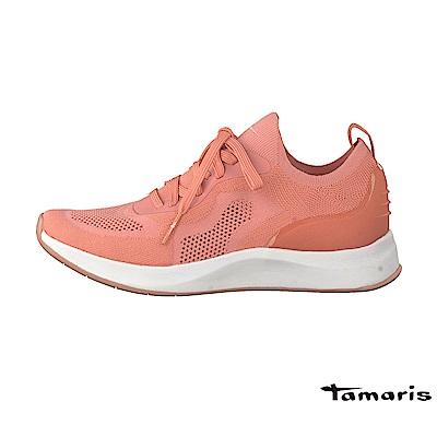 TAMARIS(女) 隠行行者 極輕透彈力網布襪套式都會運動鞋 - 觸膚粉