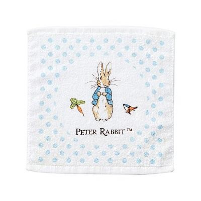 奇哥 圓點比得兔純棉方巾-藍色 (28x28cm)