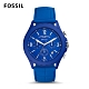 FOSSIL LIMITED EDITION-ME陽光新潮石英計時男錶-炫藍 46MM LE1098 product thumbnail 1