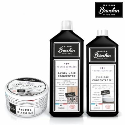 Maison Briochin 黑牌碧歐馨 清潔達人必備組合-清潔石+濃縮黑皂液+清潔醋