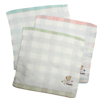 比得兔提花精繡手帕巾-PR497-MT/泰迪無捻提格精繡手帕巾-CT021-MT-12入
