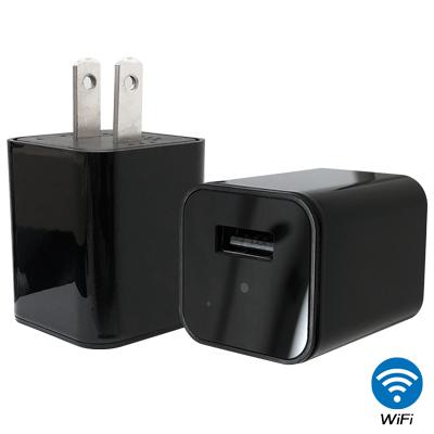 CHICHIAU WIFI無線網路高清4K充電器造型-針孔微型攝影機影音記錄