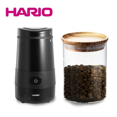 【HARIO】普羅佩拉電動磨豆機+SIMPLY耐熱玻璃保鮮罐800ml