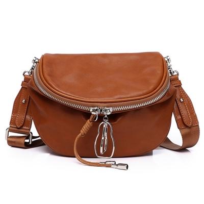 米蘭精品 側背包真皮手提包-純色牛皮流蘇時尚女包包母親節情人節生日禮物2色73xp11