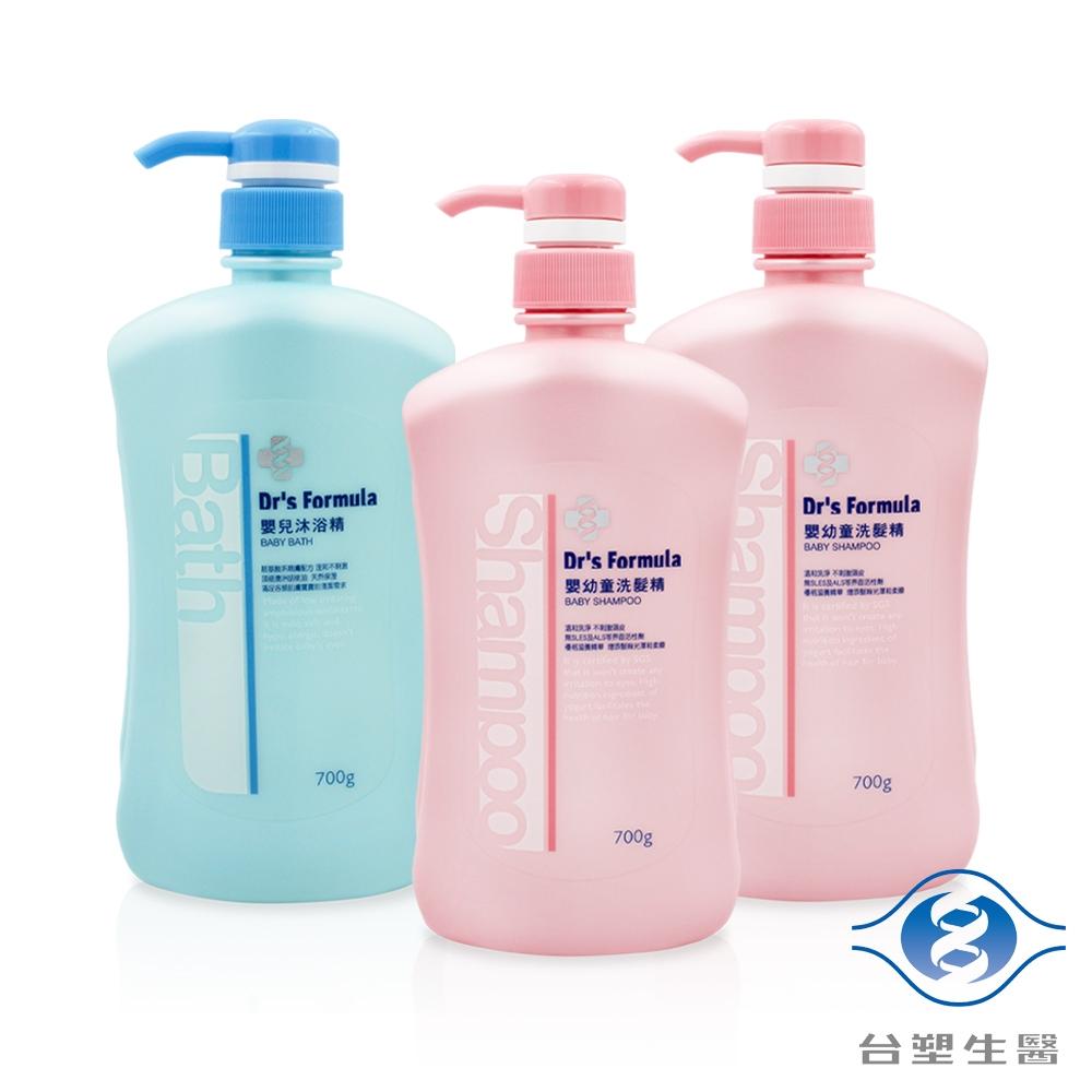 台塑生醫 嬰兒沐浴洗髮超值組 (嬰兒沐浴精X1 + 嬰幼童洗髮精X2)