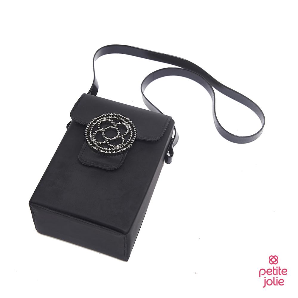 Petite Jolie--經典徽章掀蓋相機包-黑色