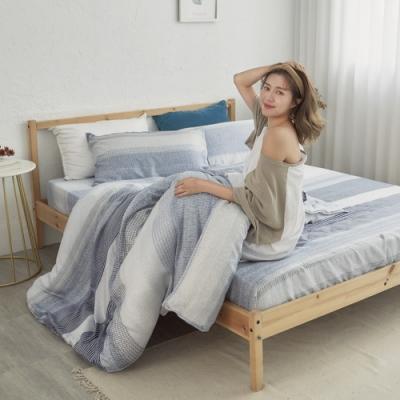 BUHO 100%TENCEL天絲床包枕套組-雙人(恆時夜藍)
