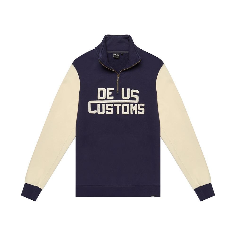 Deus Ex Machina  Marston Zip針織上衣-藍(男/女)