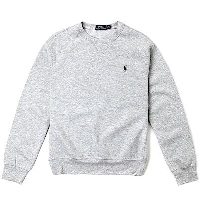 Polo Rlaph Lauren 年度熱銷經典刺繡標誌鋪棉大學T恤-灰色