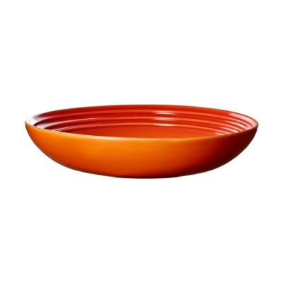 LE CREUSET 瓷器義麵盤 22cm(火焰橘)