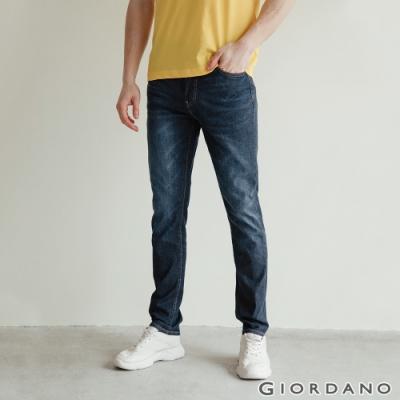 GIORDANO 男裝彈性輕薄牛仔褲 - 92 中藍