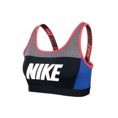 NIKE 女運動內衣-運動背心 慢跑 路跑 有氧 瑜珈 灰黑橘