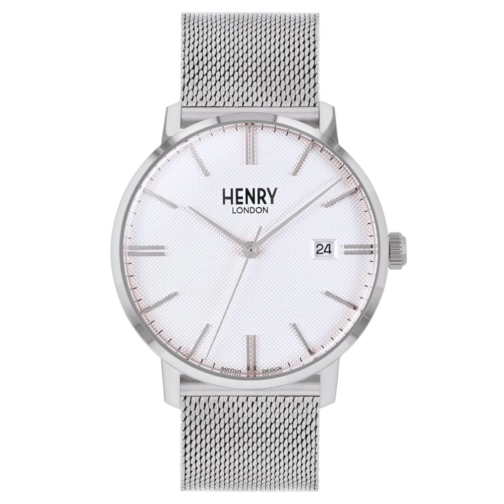 Henry London 英倫時尚米蘭帶手錶-白X銀/40mm