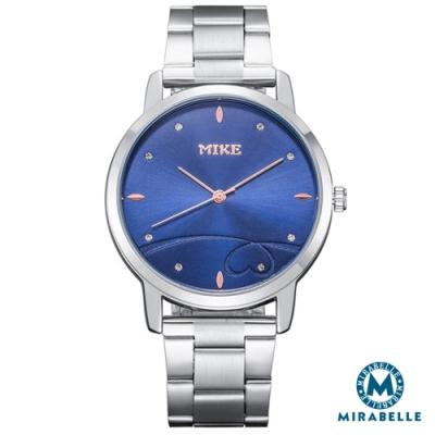Mirabelle紅線情緣 點鑽不鏽鋼男錶 藍面39mm