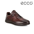 ECCO AQUET M 透氣簡約單色休閒鞋 男-棕色
