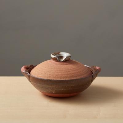 日本TAIKI太樹萬古燒 和風紅土京鍋6號(0.6L)