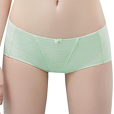 思薇爾 小冰冰純真風系列M-XL素面中低腰平口內褲(輕綠色)