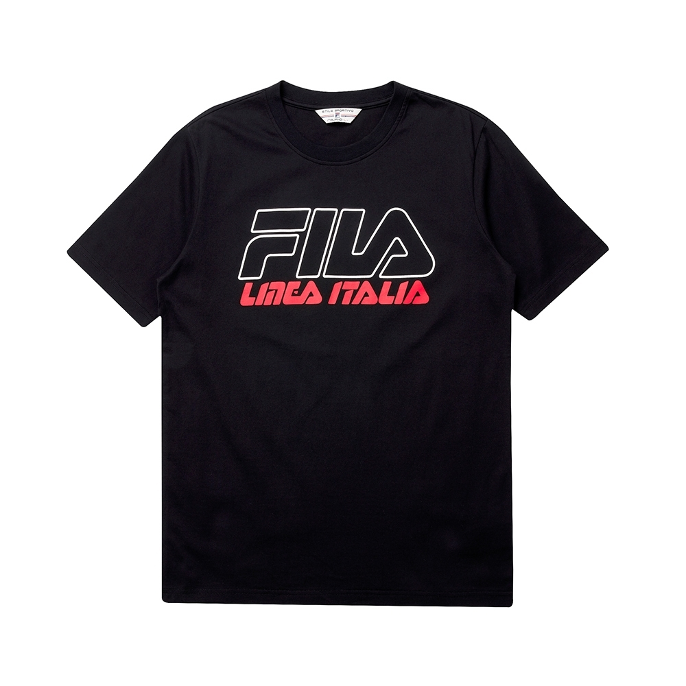 FILA #LINEA ITALIA 短袖圓領T恤-黑色 1TET-5434-BK