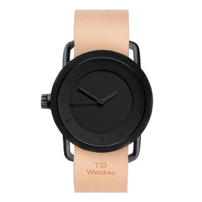 TID No.1 36  Black /裸色皮革錶帶-黑(TID-B36-NW)/36mm