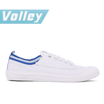 澳洲Volley 輕便休閒白鞋 情侶 男女款 白藍