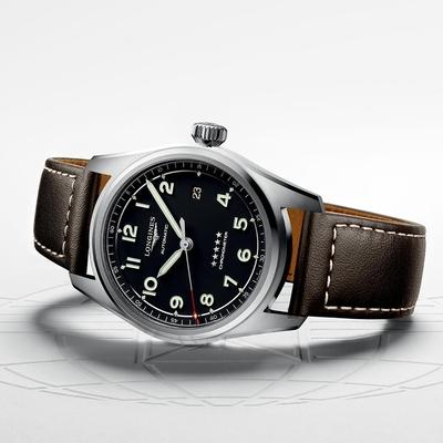 LONGINES浪琴 Spirit 先行者系列飛行員機械錶-咖啡皮帶/42mm L38114530