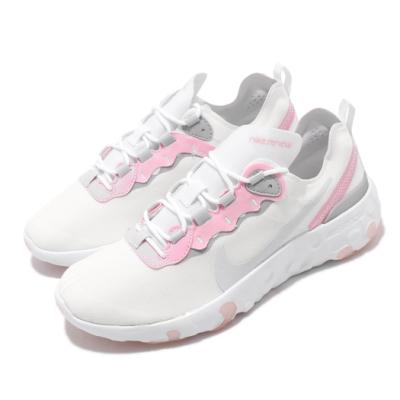 Nike 休閒鞋 Element 55 GS 女鞋 大童 舒適 運動 穿搭球鞋 白 粉 CK4081102