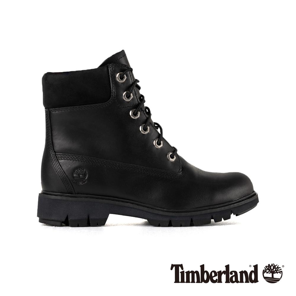 Timberland 女款黑色全粒面皮革 Lucia Way 靴|A1SGW @ Y!購物