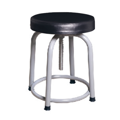 H&D 英式3088螺旋升降黑厚灰腳椅