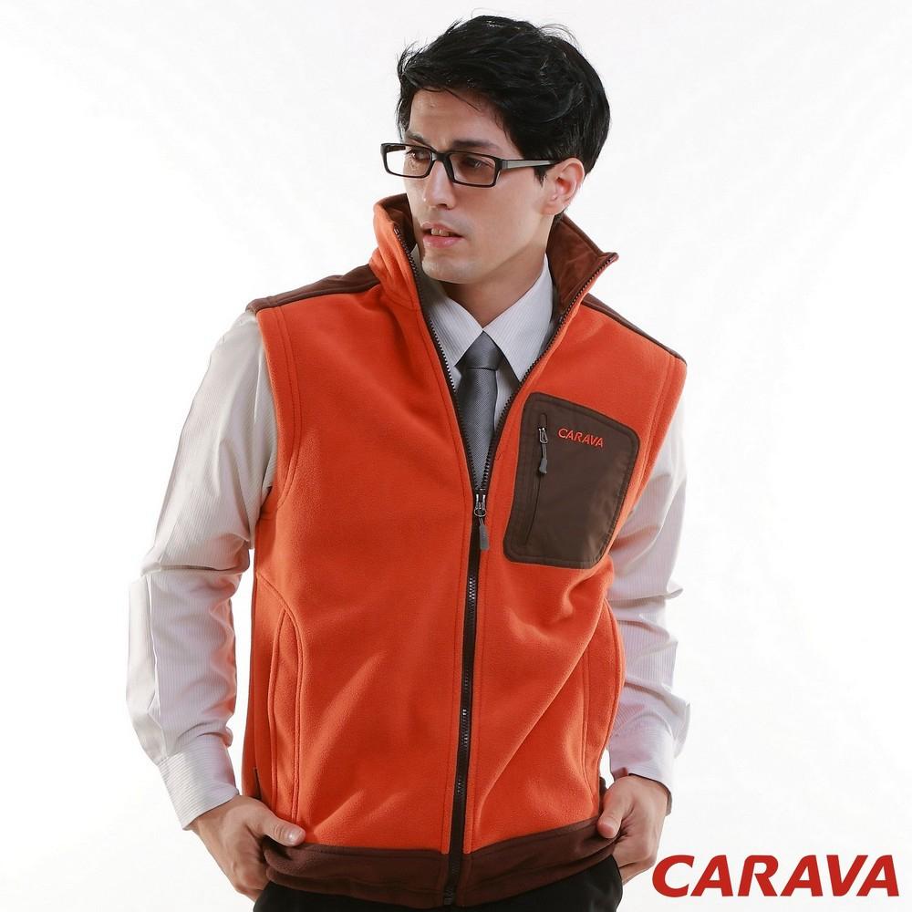 CARAVA《男款刷毛背心》(橙)