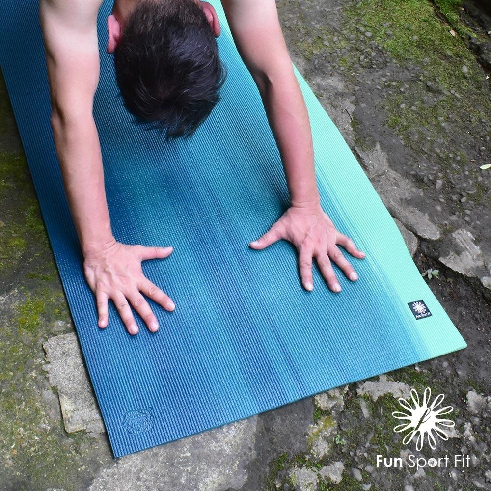 Fun Sport fit 雲之境-深呼吸專業瑜珈墊(漸層綠) 6mm