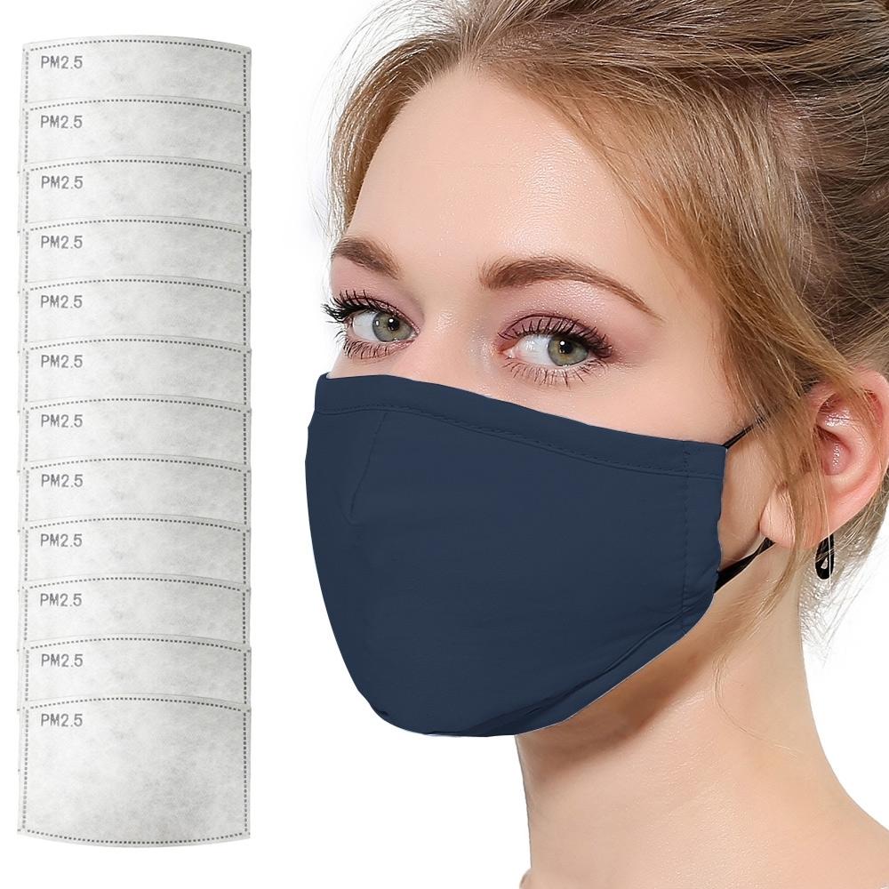 活力揚邑 PM2.5防塵霾濾芯式立體棉布口罩活性碳五層濾片12入