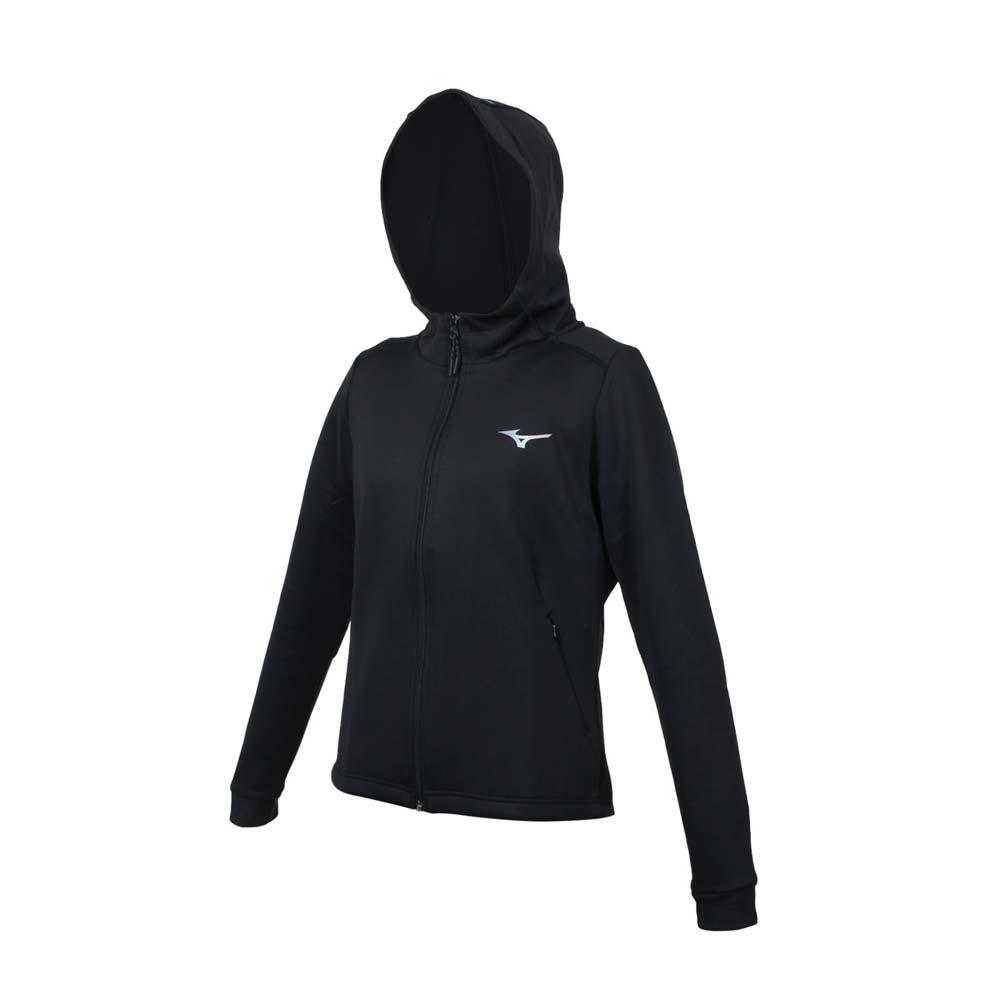 MIZUNO 女針織連帽外套-慢跑 路跑 抗UV 反光 美津濃 32TC128309 黑紫