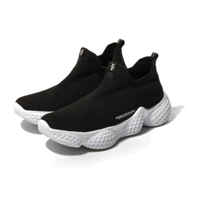 (男女)Y.A.S 輕量透氣襪套鞋-黑