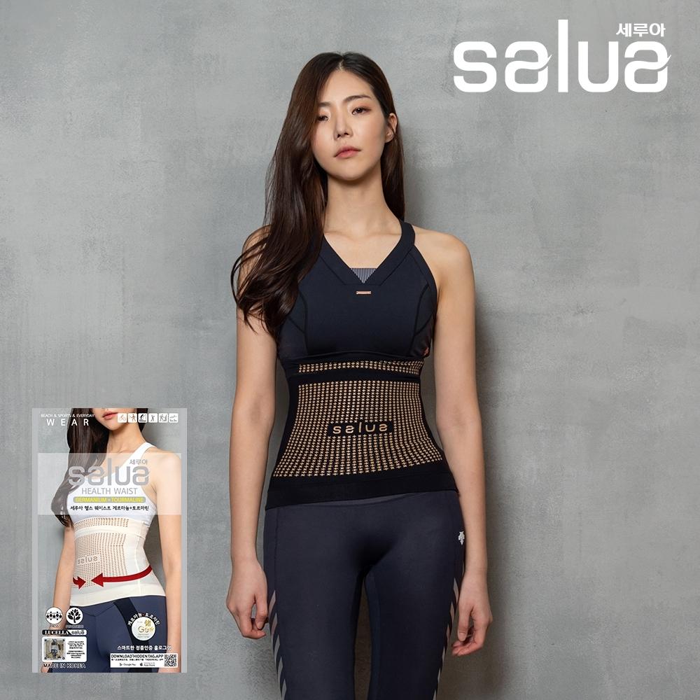 『時時樂限定』韓國 salua 專利鍺元素護腰束腹帶 韓國原裝進口