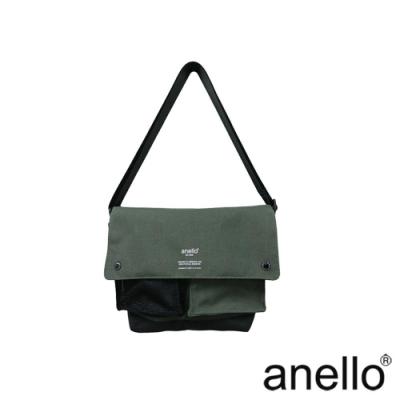 anello 海外限定率性軍風休閒斜背包 灰綠色 M