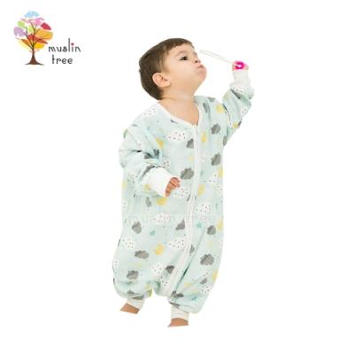 Muslin tree 防踢被四層紗布寶寶分腿睡袋