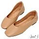 Ann'S全真皮牛皮時髦顯瘦方頭平底鞋-棕 product thumbnail 1