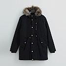 Hang Ten - 男裝 - 縮袖抽繩鋪棉外套 - 黑