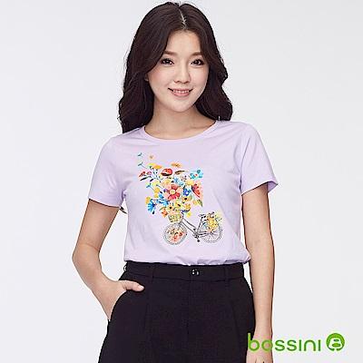 bossini女裝-印花短袖T恤25淡紫